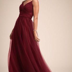 Anthropologie Camden Dress s 4 Bordeaux Bridesmaid
